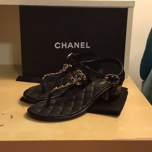 Chanel quilted sandal cruise collection